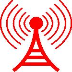 Wireless tower 150x150 youtube logo black white
