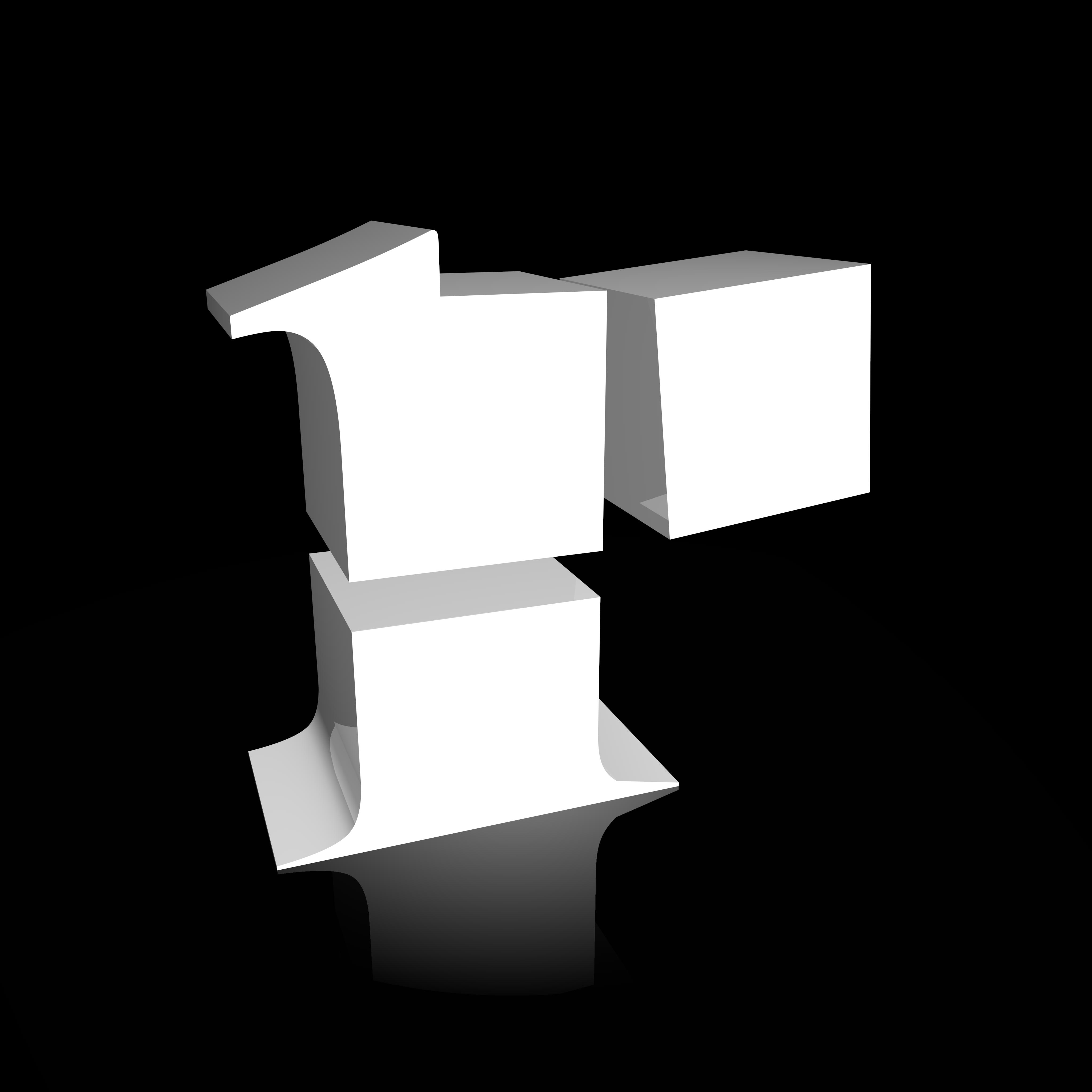R logo black on white
