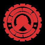 Osmi badge red transparent